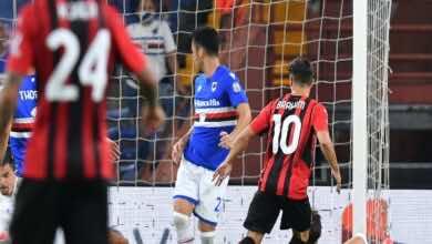 شاهد فيديو اهداف مباراة ميلان وسامبدوريا في الدوري الايطالي (صور:AFP)