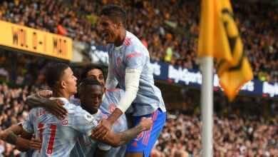 نتيجة مباراة مانشستر يونايتد وولفرهامبتون في الدوري الانجليزي (صور:AFP)