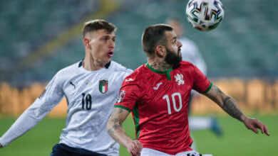 تاريخ مواجهات ايطاليا وبلغاريا قبل استئناف تصفيات كأس العالم 2022