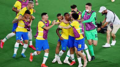 شاهد فيديو اهداف البرازيل واسبانيا في اولمبياد طوكيو 2020.. مالكوم يجلب الذهب للسيليساو بالقاضية