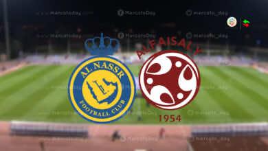 موعد مباراة النصر والفيصلي في الدوري السعودي والقنوات الناقلة