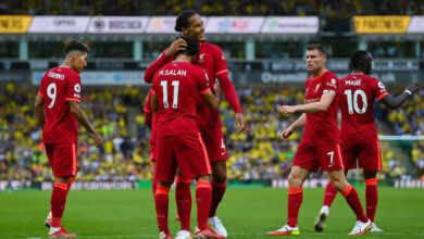 نتيجة مباراة ليفربول ونوريتش سيتي في الدوري الانجليزي.. انطلاقة جيدة للريدز