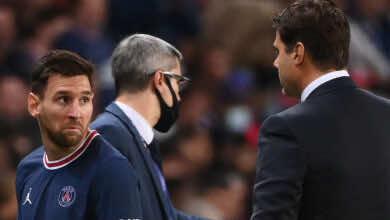 بوكيتينو يعلل قراره باستبدال ميسي خلال مباراة يوم أمس بين باريس وليون