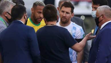 بالفيديو: ميسي غاضب من احداث مباراة الارجنتين والبرازيل في تصفيات كأس العالم