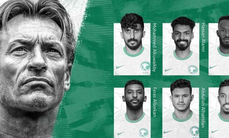 عاجل | تشكيلة السعودية وعمان في قمة مباريات اليوم بتصفيات كأس العالم 2022