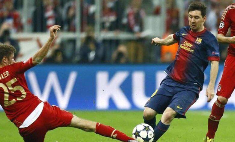 نجم بايرن ميونخ يتأسف لغياب ميسي عن برشلونة في دوري أبطال أوروبا