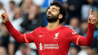 محمد صلاح خامس أسرع لاعب يسجل 100 هدف في الدوري الإنجليزي الممتاز