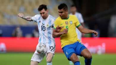 موعد مباراة البرازيل والارجنتين في تصفيات كأس العالم 2022..القنوات الناقلة والمعلق