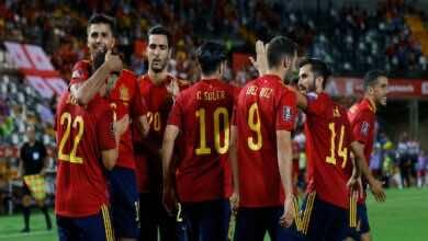 نتيجة مباراة اسبانيا وجورجيا في تصفيات كأس العالم 2022..الماتدور يسحق برباعية