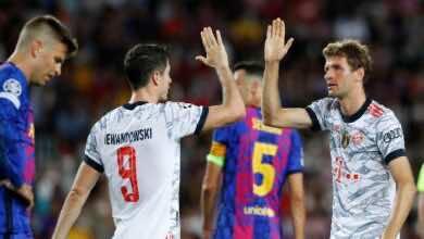بايرن ميونخ يواصل التفوق على برشلونة ويهزمه بثلاثية في دوري الابطال
