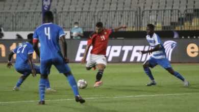 نتيجة مباراة مصر وليبيريا في تحضيرات تصفيات كأس العالم 2022..شريف يُهدف بثنائية