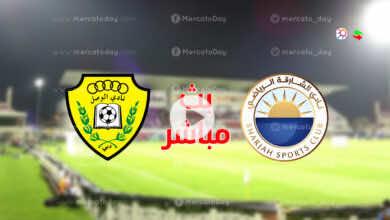 مشاهدة مباراة الشارقة والوصل في بث مباشر يلا شوت ببطولة الدوري الاماراتي أدنوك