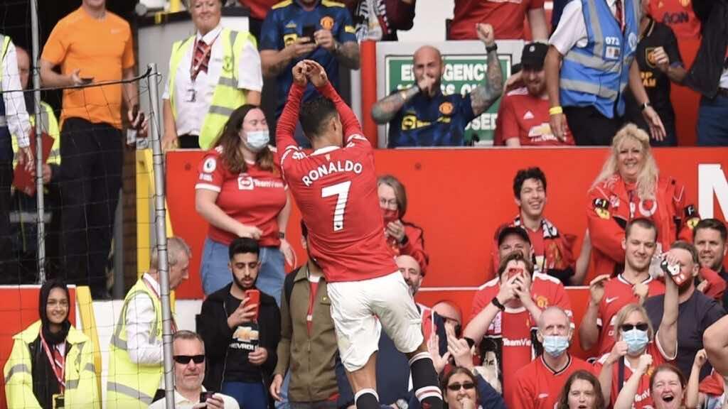 رونالدو يسجل هدف امام نيوكاسل في الدوري الانجليزي ويحتفل بطريقته الخاصة suiii