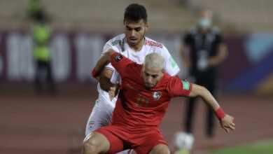 شاهد فيديو اهداف مباراة سوريا وايران في تصفيات كأس العالم 2022..قذيفة تنصر الايرانيين