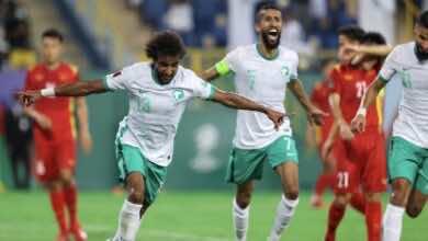 نتيجة مباراة السعودية وفيتنام في تصفيات كأس العالم 2022 «رأس الشهراني تُكمل روعة الريمونتادا»