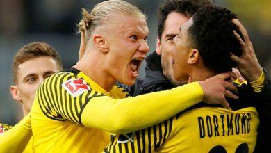 عودة هالاند تُبقي على دورتموند في الصراع على لقب الدوري الألماني