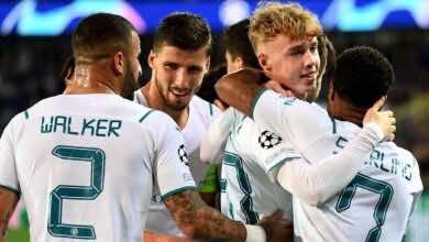 تشكيلة مان سيتي المتوقعة في مباراة يوم غد امام برايتون في الدوري الإنجليزي