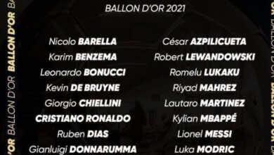 قائمة 30 لاعب المرشحين لجائزة الكرة الذهبية 2021..تواجد صلاح ورياض محرز