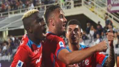 نتيجة مباراة نابولي وفيورنتينا في الدوري الايطالي - الجولة 7..الأزوري ينفرد بالصدارة