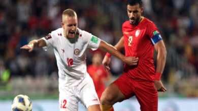 شاهد فيديو اهداف مباراة سوريا ولبنان في تصفيات كأس العالم 2022
