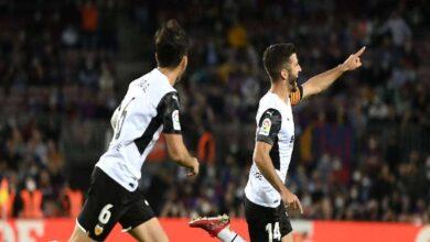 نتيجة مباراة برشلونة وفالنسيا في الدوري الاسباني