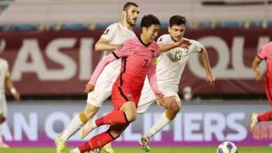 نتيجة مباراة سوريا وكوريا الجنوبية في تصفيات كأس العالم 2022 «النمور تنهش نسور قاسيون»
